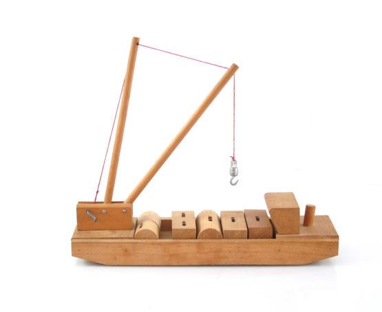 "Vintage wooden toy boat by ""Sliedrecht"""