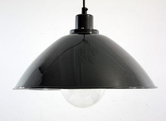 Industrial Bauhaus 1930s metal green pendant 1