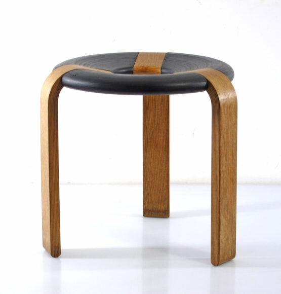 Rud Thygesen - Magnus Olesen vintage plywood stool - scandinavian, danish, eames, poul cadovius, charlotte perriand, braakman, jean prouve