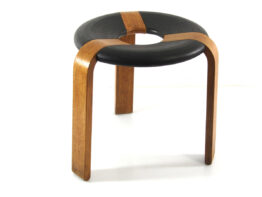 Vintage Stool by Rud Thygesen - Magnus Olesen plywood- scandinavian, danish, eames, poul cadovius, charlotte perriand, braakman, jean prouve