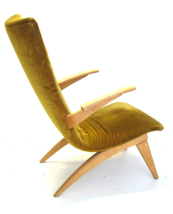van Os arm chair design fauteuil fifties vintage