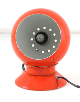Abo Randers red magnet ball lamp by Benny Frandsen
