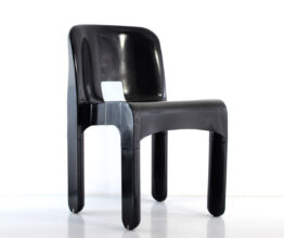 Sixties design Joe Colombo 4867 plastic vintage black chair for Kartell - eames, retro, eero aarnio, verner panton, artifort, pierre paulin