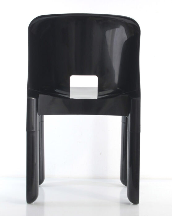 Sixties design Joe Colombo 4867 plastic vintage black chair for Kartell - eames, retro, eero aarnio, verner panton, artifort, pierre paulin