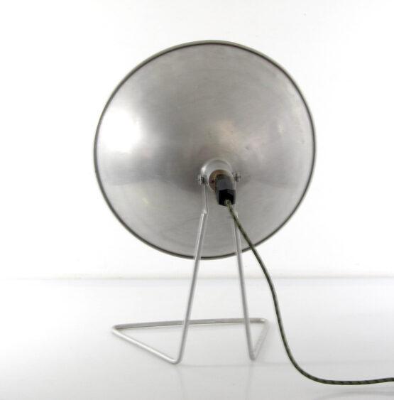 Large French aluminium table lamp