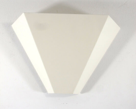 2 Geometric vintage white design wall lamps