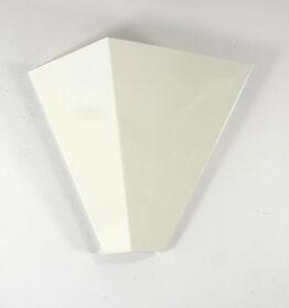 2 Geometric vintage white design wall lamps