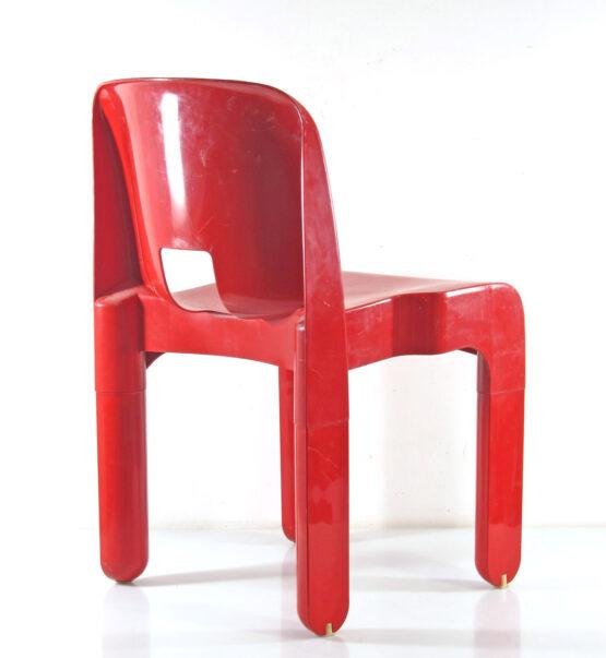 Joe Colombo 4867 Sixties Ferrrari Red plastic vintage chair for Kartell - eames, retro, eero aarnio, verner panton, artifort, pierre paulin