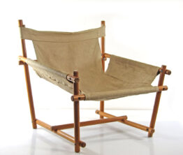 Canvas sling lounge chair 1970s scandinavian Safari chair - danish, mobring, hans wegner, wilhelm kienzle, kaare klint, vico magistretti