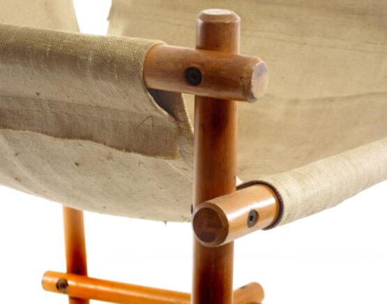 Canvas sling lounge chair 1970s scandinavian Safari chair - danish, mobring, hans wegner, wilhelm kienzle, kaare klint, vico magistretti