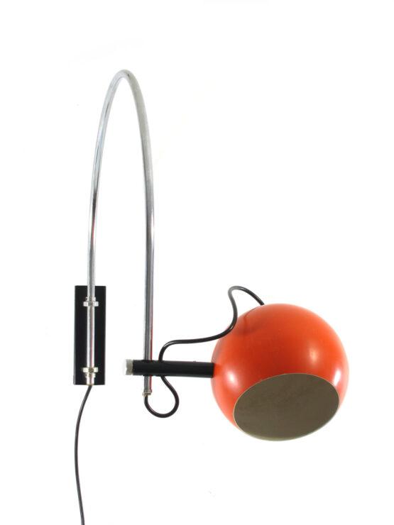GEPO Amsterdam 1960s adjustable wall lamp - Anvia, Panton, Eames, Danish, Joe Colombo, Arne Jacobsen, Sarfatti, Poul Henningsen, Hammerborg