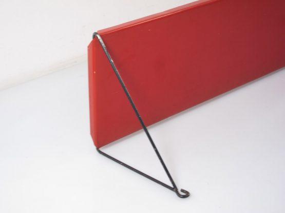 Mategot style red & black sixties bookshelf - jaren vijftig, eames, biny, perriand, pilastro, poul cadovius, string, franco albini